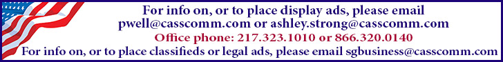 For advertising information please call 217-2=323-1010 or 866-320-0140