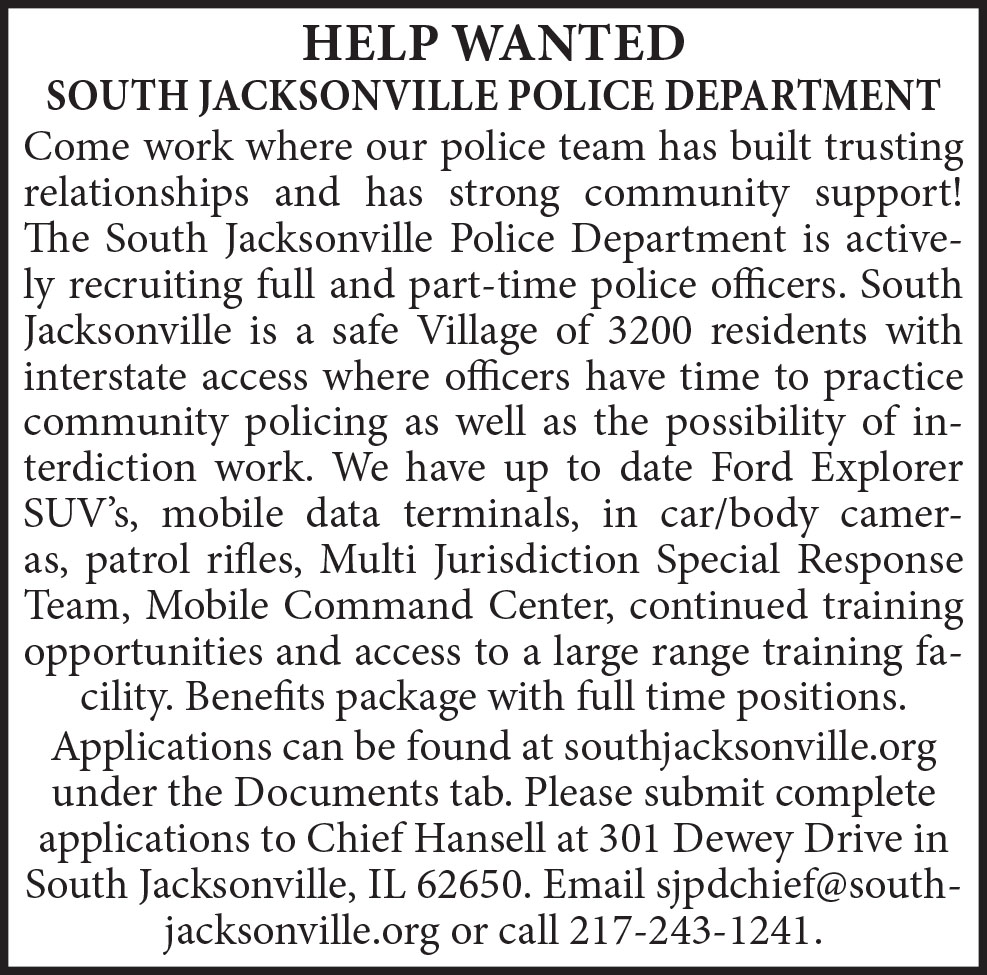 Help Wanted - Police Department