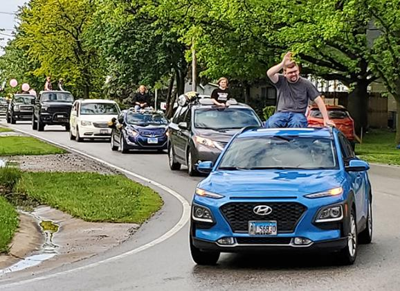 A graduation parade for A-C Central seniors travels through Ashland Sunday, May  17.Photo by Mike Kloppenburg