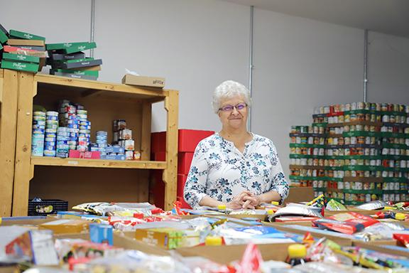 Joanne Anderson helped found and has given more than 25 years' service to the Cass County Food Pantry. (Photo by Brian DeLoche.)
