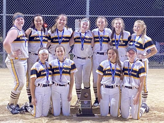 Softball State Tourney, Second Place – Front row, left to right,Taylor Kiers, Virden; Taylor Verry, Springfield; Jenna Long, New Berlin; Abby Ryan, Chatham. Back row, left to right, Marlee Brown, Beardstown; Maya Rodriguez, Pawnee; Kiley Nottingham, Chatham; Hannah Austif, Taylorville; Jaelyn Simpson, Beardstown; Shelby Seilers, Auburn; Bailey Meyer, Springfield.