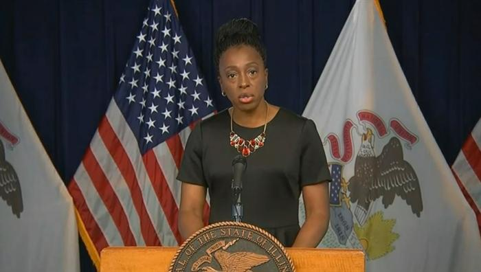 Illinois Department of Public Health Director Dr. Ngozi Ezike warns Illinoisans to rethink thanksgiving plans that include mixing households and travel. (Credit: Blueroomstream.com)